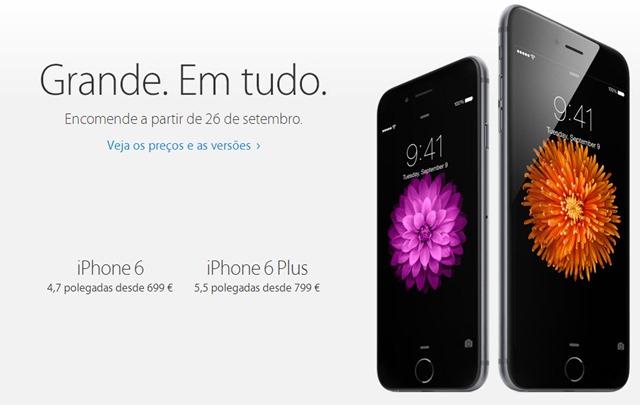 fdb3bcd5f iPhone 6 e iPhone 6 Plus   Conheça os preços para Portugal - Pplware