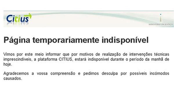 """No arranque do ano judicial, o """"Citius"""" esteve inoperacional por """"intervenções técnicas imprescindíveis""""."""