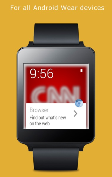 71cfdad3e90 Wear Internet Browser  Navegue na Internet no seu smartwatch - Pplware