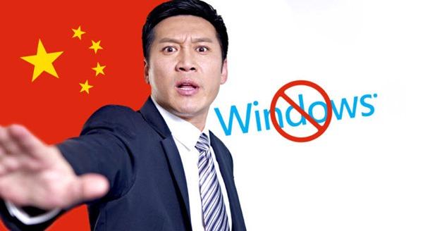 Imagem ilustração da China que adota Linux e trava o Windows no país