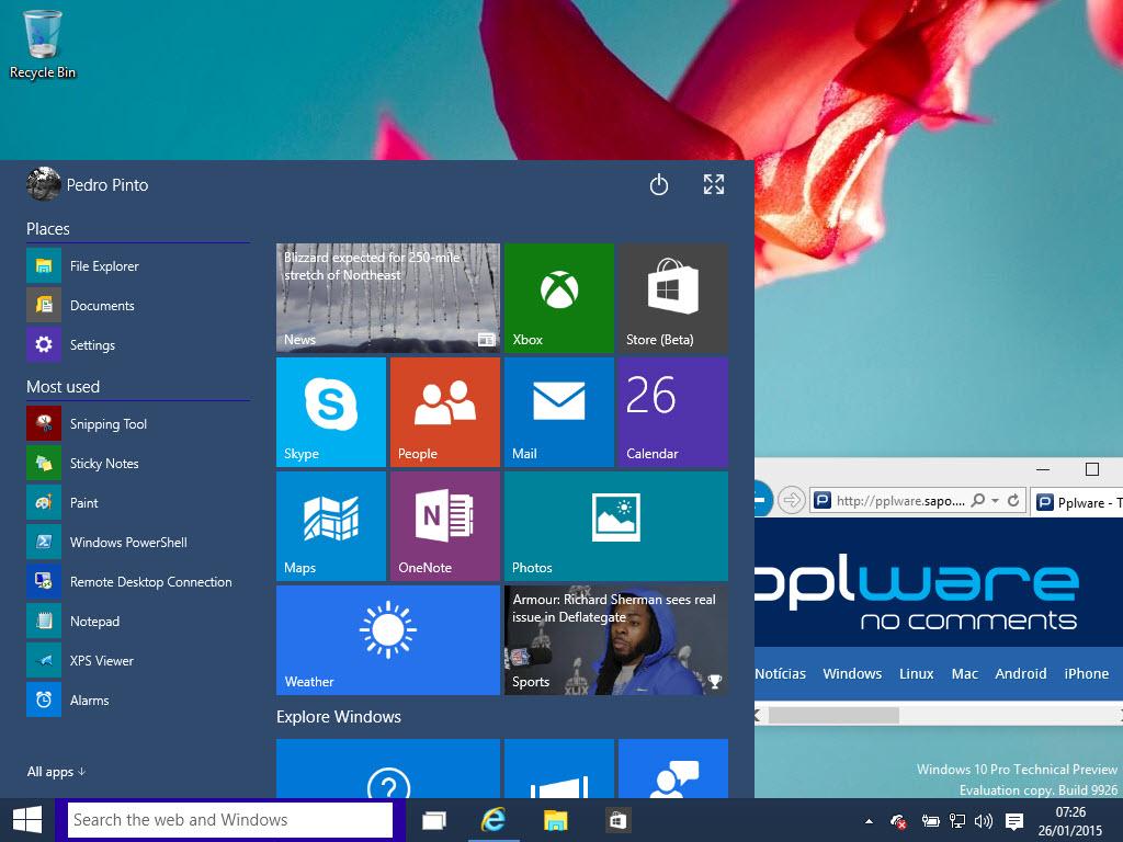 1adfe37d6c1 Windows 10 tem escondido um novo calendário e relógio - Pplware