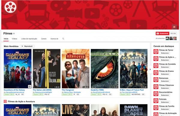 Este serviço tem já milhares de filmes, muitos são gratuitos