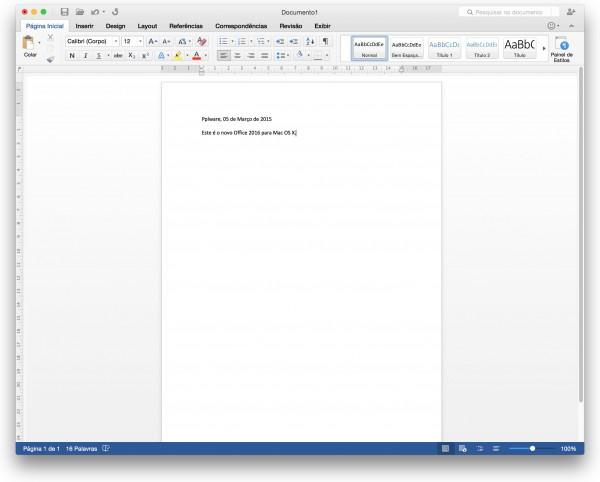 Já disponível gratuitamente o Microsoft Office 2016 para Mac