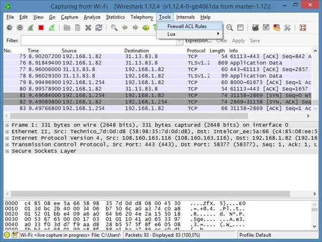 Como criar regras de Firewall no Wireshark? - Pplware