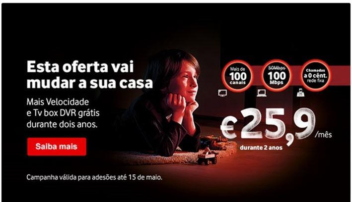 Vodafone ataca concorr ncia com internet a 100 mbps pplware - Internet en casa de vodafone ...