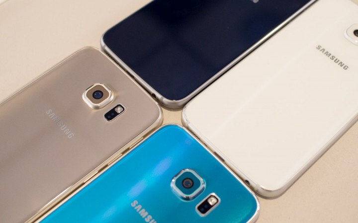 Samsung Galaxy S6 - cores disponíveis