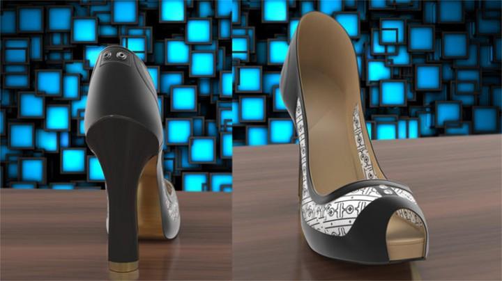 Par de Sapatos muda de cor através de uma app