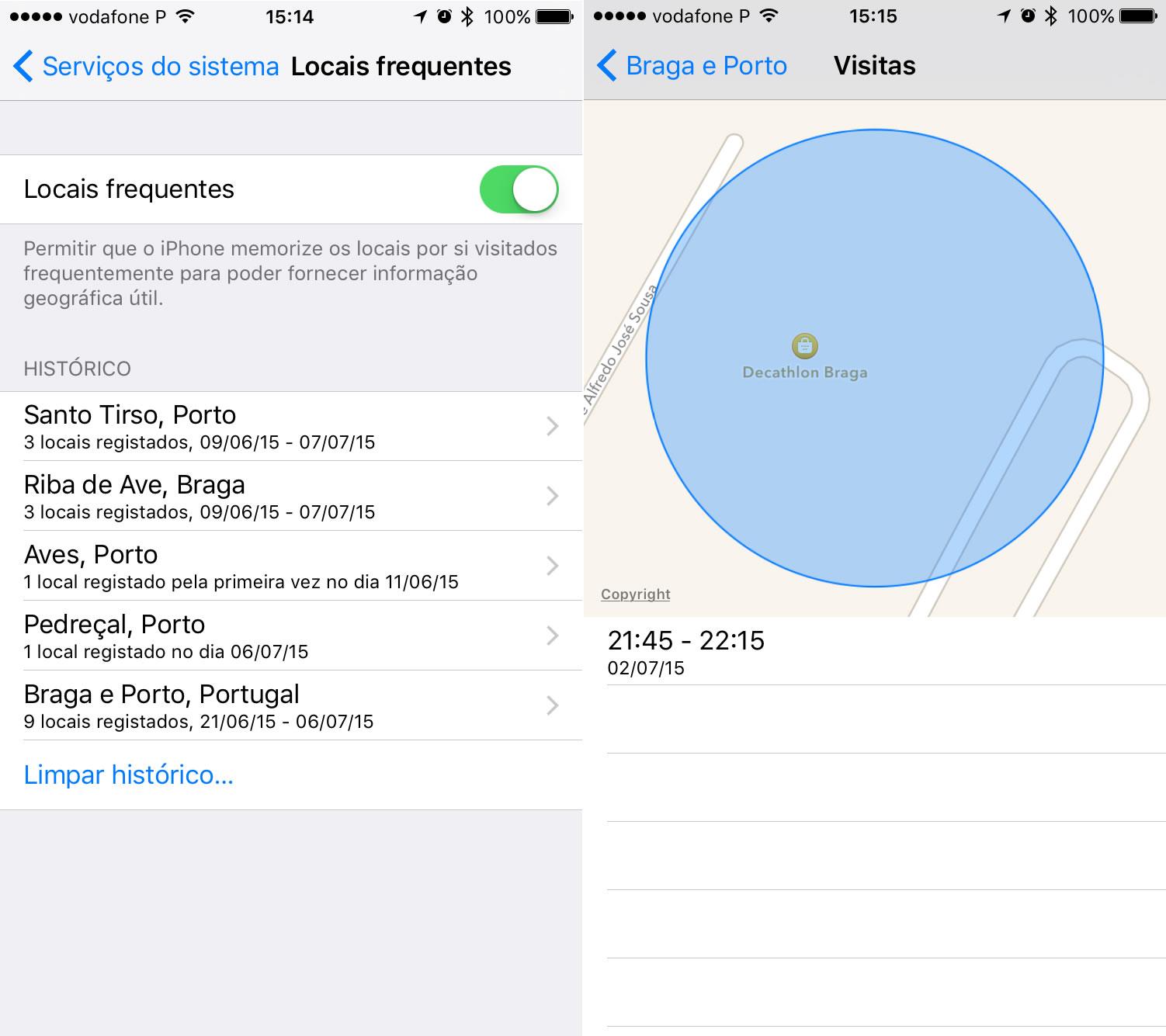 Sabia que o seu iPhone grava todos os sítios por onde anda  ed046f05bd