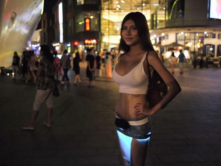 Sexy minissaia com LEDs