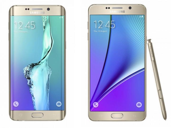 Galaxy S6 edge+ e Galaxy Note 5