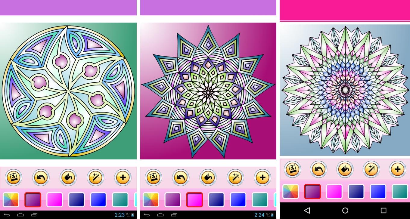Mandalas Apps Para Colorir Também No Seu Smartphonetablet