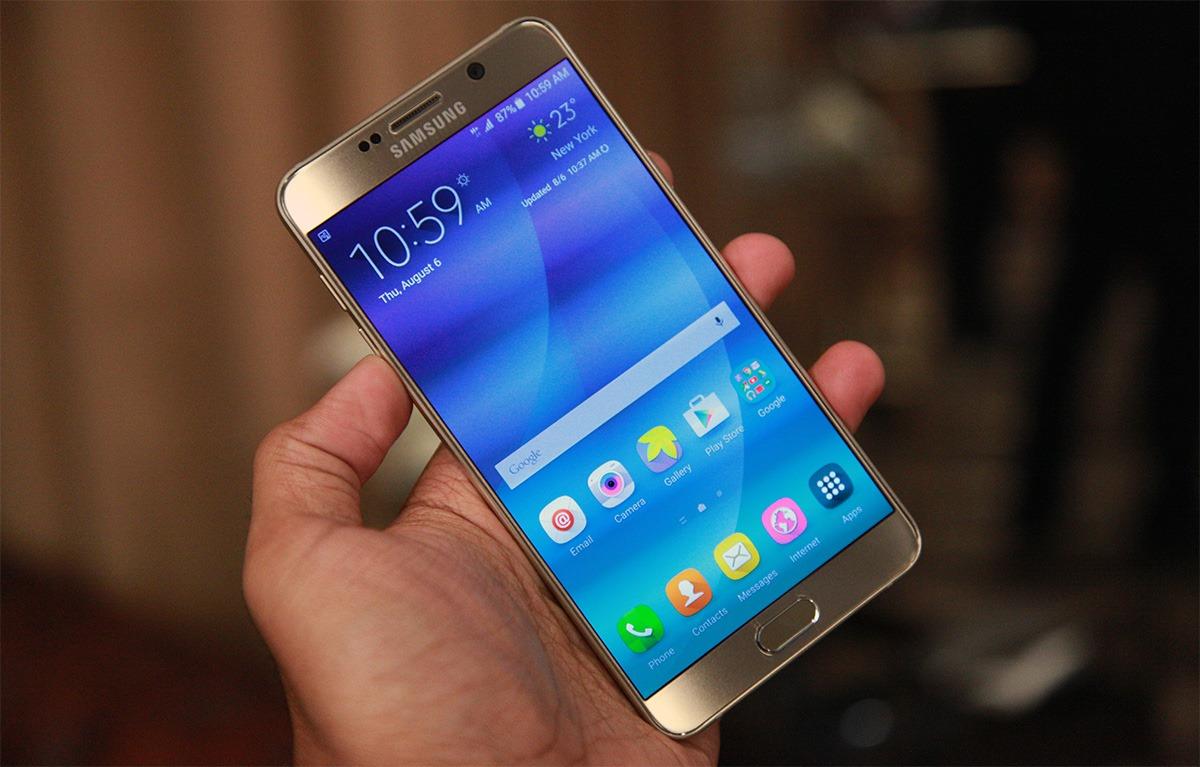 Samsung Galaxy Note 5 atualização