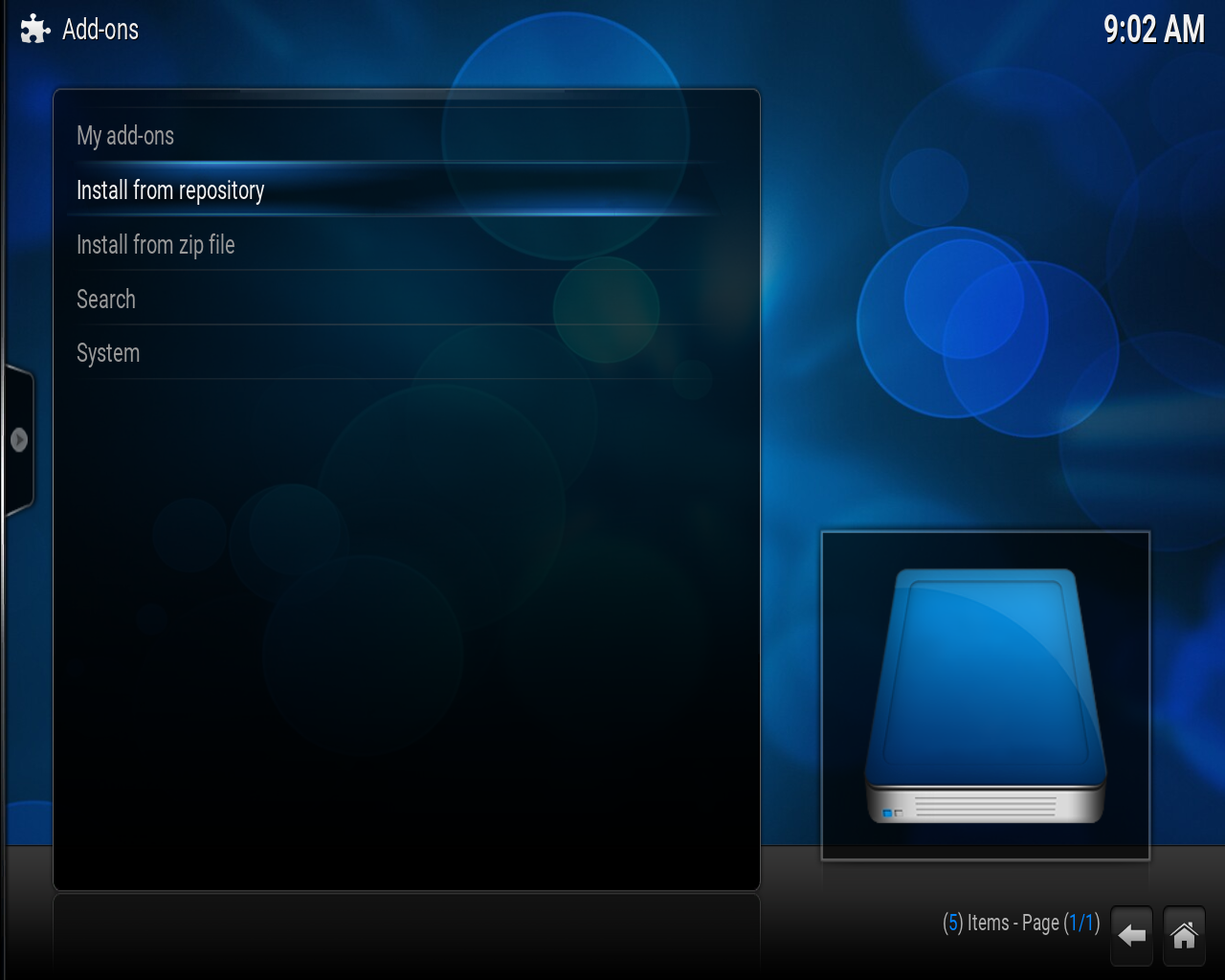 how to delete add ons from kodi