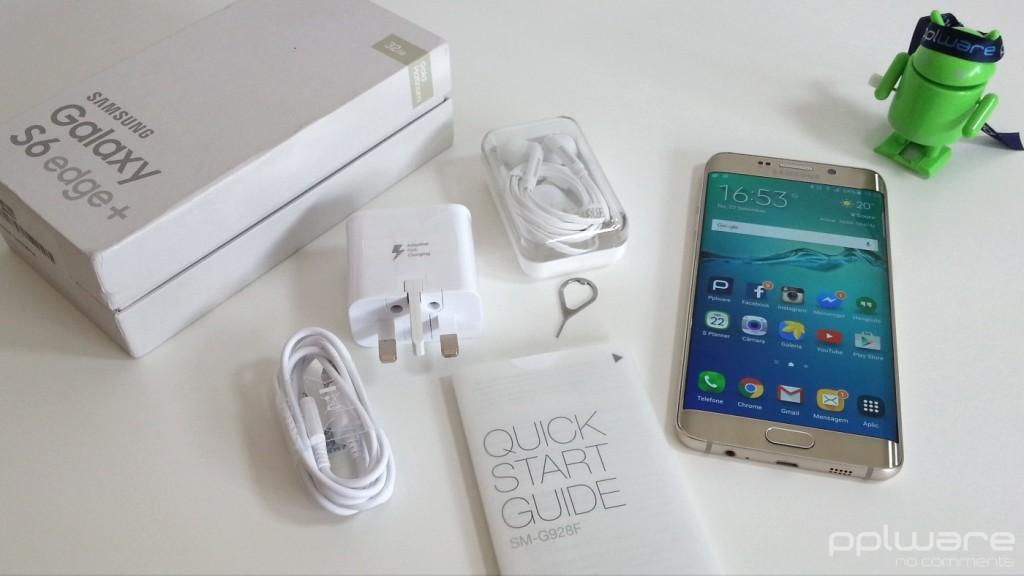 Samsung Galaxy S6 edge+ - Caixa e acessórios