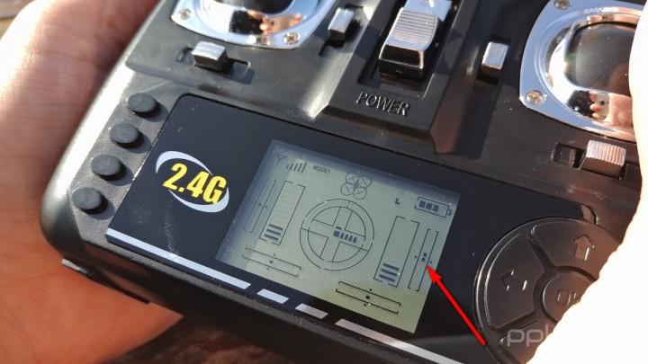 Ponto central segundo o eixo Pitch foi redefinido mais para a frente (joystick direito).