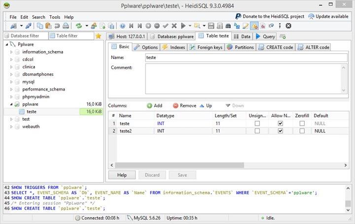 HeidiSQL poderosos e simples para gerir MySQL