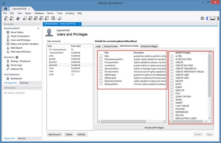 MySQL WorkBench para gerir MySQL