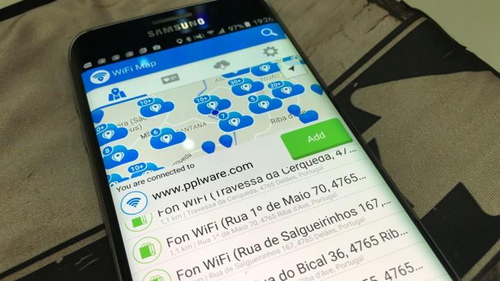 Internet de borla com WiFi Map