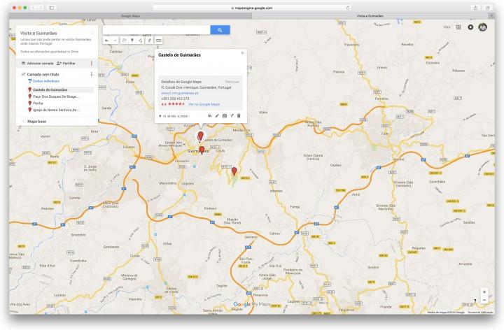Google Maps - Crie um mapa pessoal