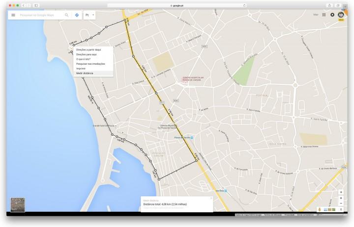 Google Maps - Meça distâncias no mapa