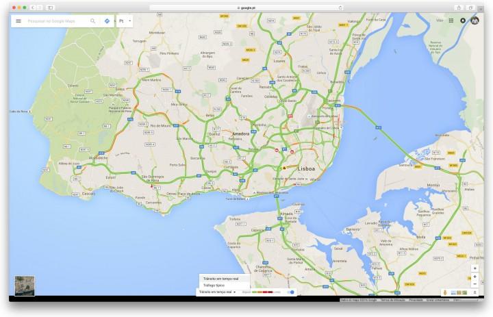 Google Maps - verifique o trânsito na ida para o trabalho