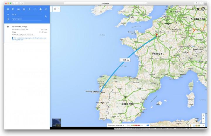 Google Maps - Saiba a hora do seu voo