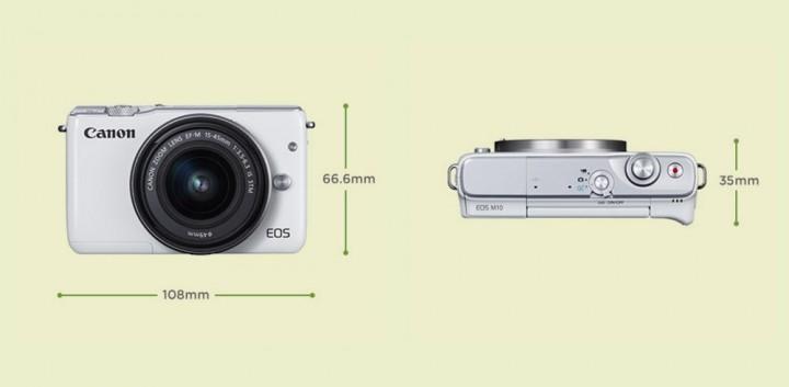 Canon-m10-tamanho