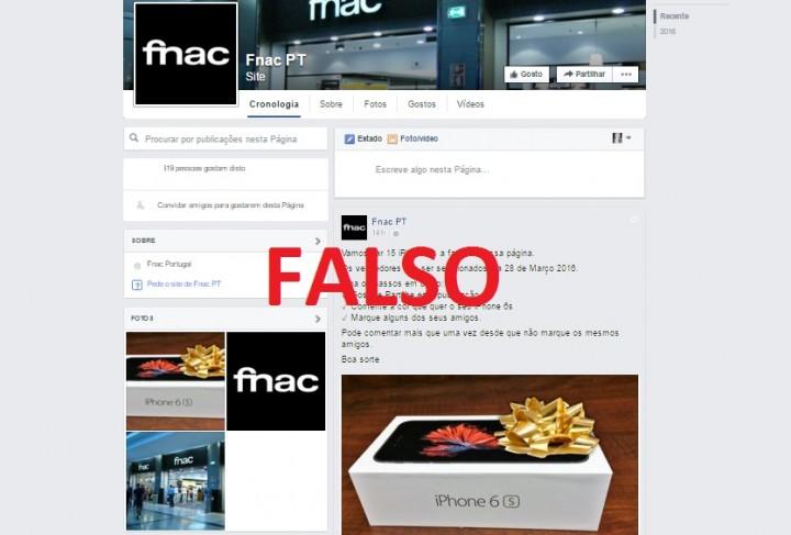 concursos falsos no Facebook