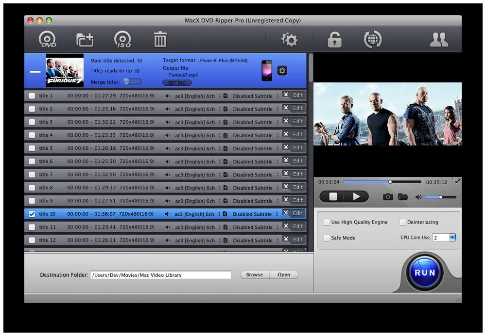 best dvd to mp4 converter mac os x