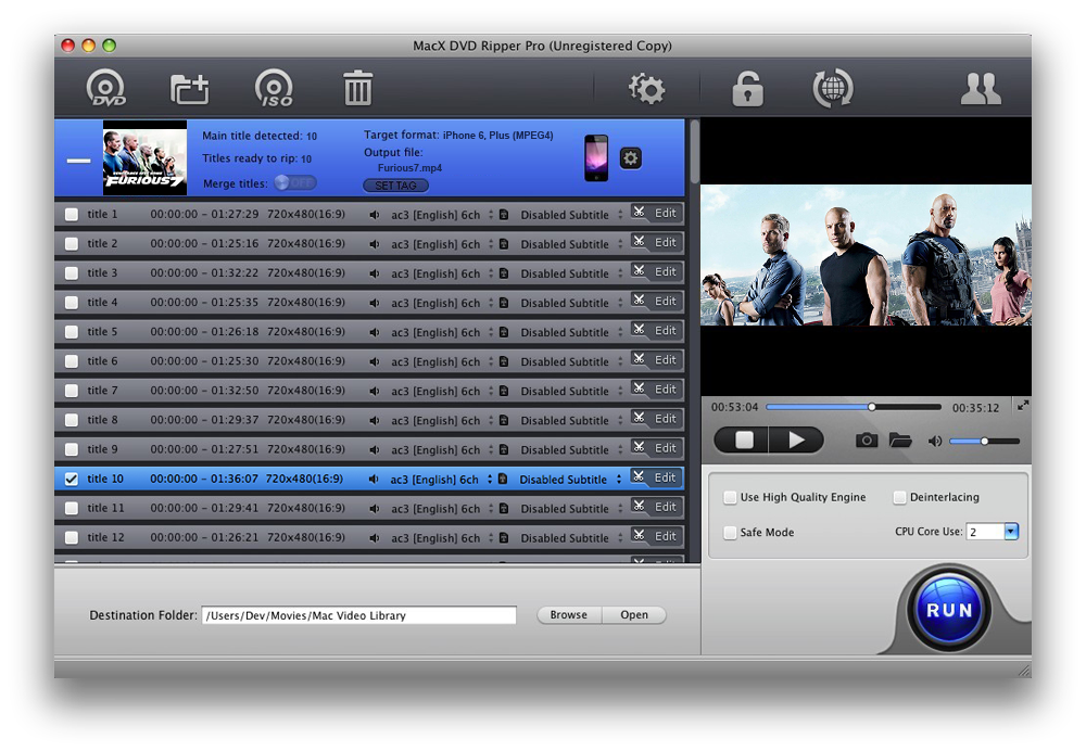 extrair audio de dvd mac os x