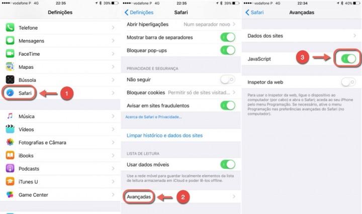 iOS 9.3 Instruções