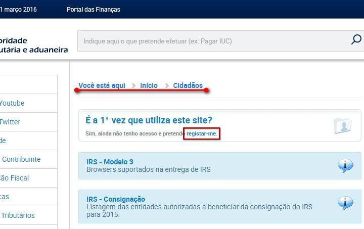 portal das finanças_senha