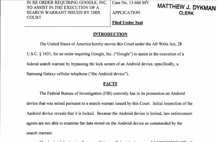 FBI mandou a Google desbloquear telefones e a Google acatou