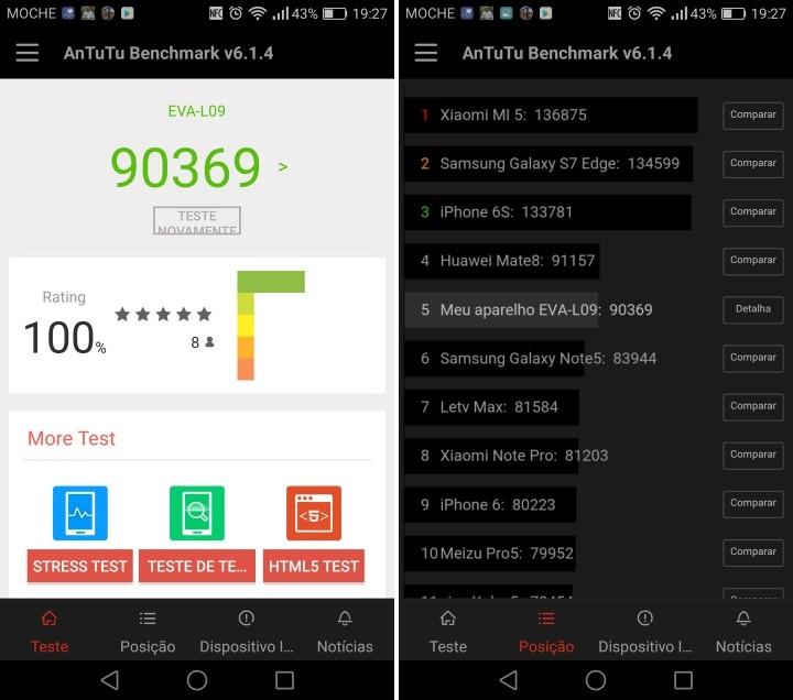 Huawei P9 - AnTuTu v6.1.4