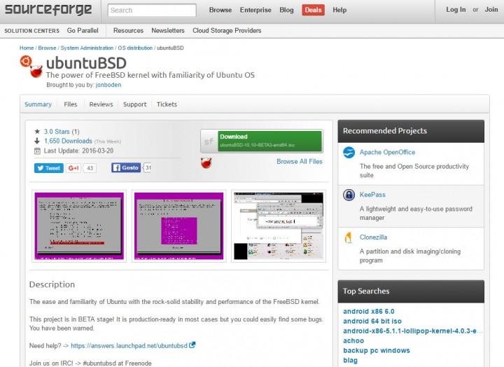 UbuntuBSD: O Ubuntu sem kernel Linux