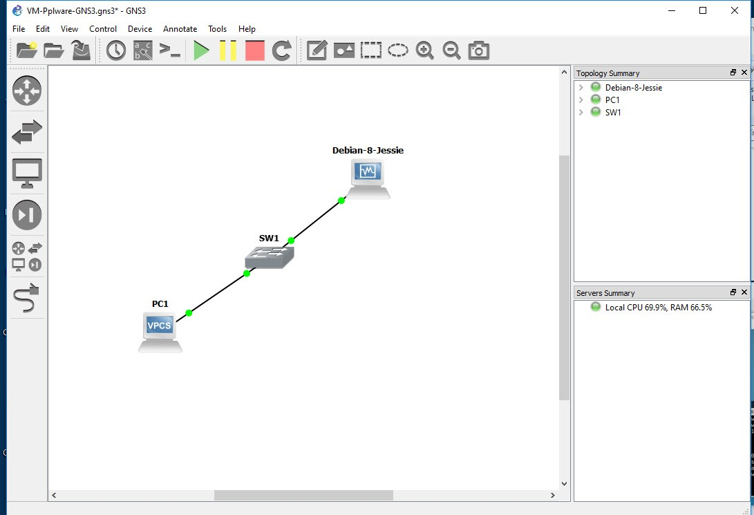 Exercício GNS3: Aprenda a integrar máquinas virtuais no cenário
