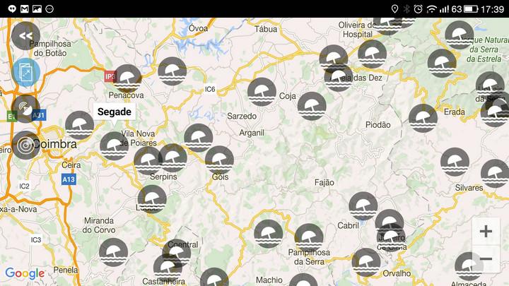 mapa das praias fluviais em portugal Encontre as melhores praias fluviais em Portugal no smartphone  mapa das praias fluviais em portugal
