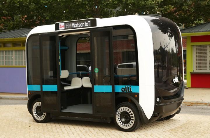 Ollie, o minibus autónomo, eléctrico e fabricado na impressora 3D