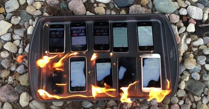 Qual o modelo do iPhone que resistiria a um incêndio?