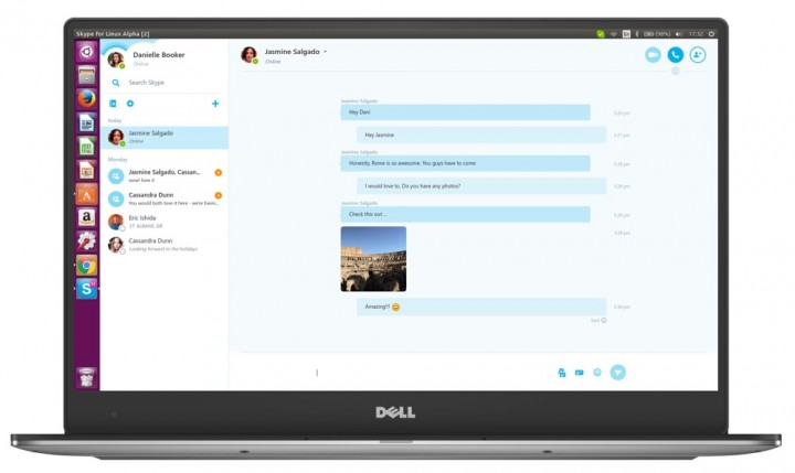 Skype Linux conversa