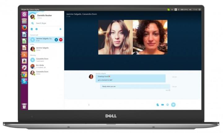 Skype Linux chamada