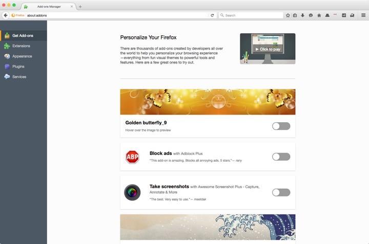 Firefox 48 add-ons