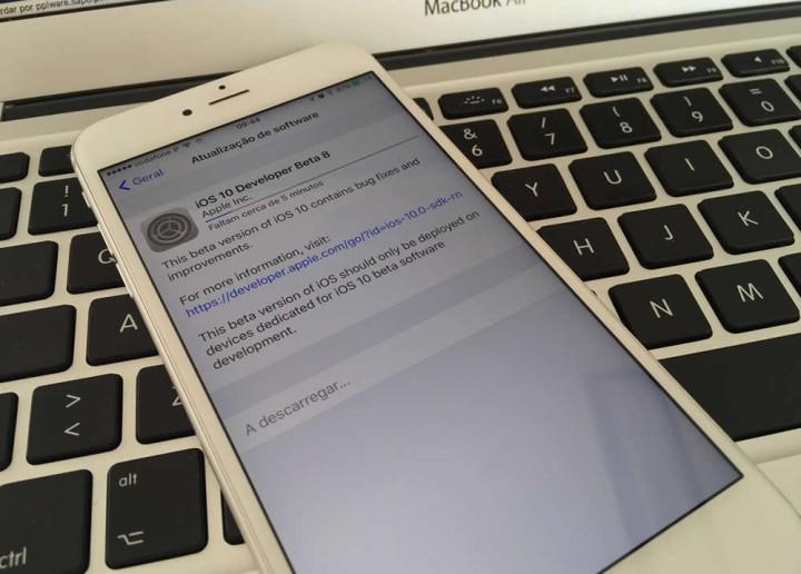 Apple lançou iOS 10 Beta 8 e iOS 10 Public Beta 7