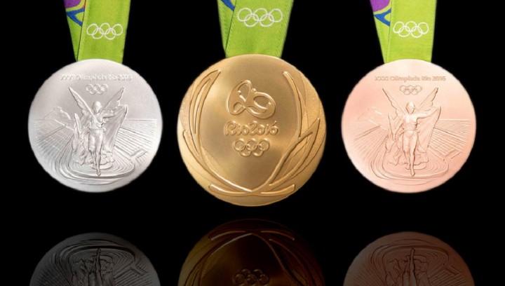 Medalhas usadas ans olimpíadas Rio 2016