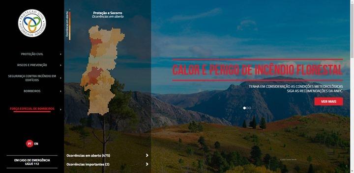 mapa de fogos em portugal hoje Protecção Civil: Informação sobre incêndios em tempo real mapa de fogos em portugal hoje
