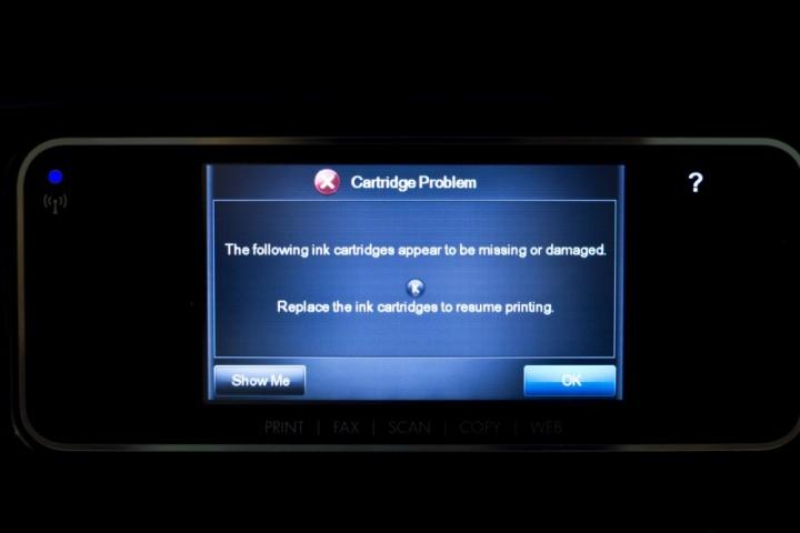 HP erro impressora