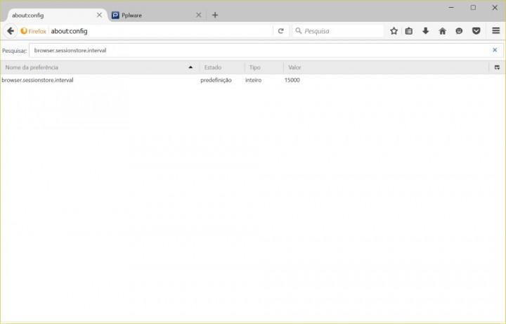 Firefox registo