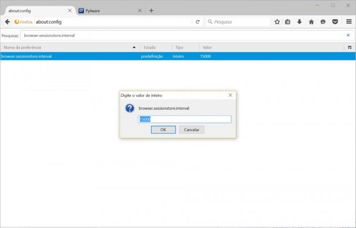 Firefox alteração