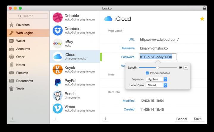 Locko - Uma app que mantém secretas as passwords e ficheiros