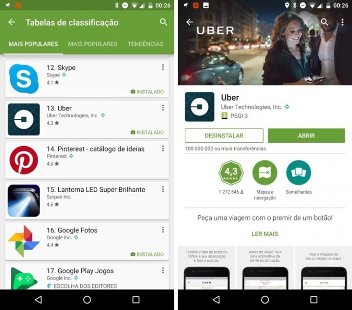 Uber Play Store